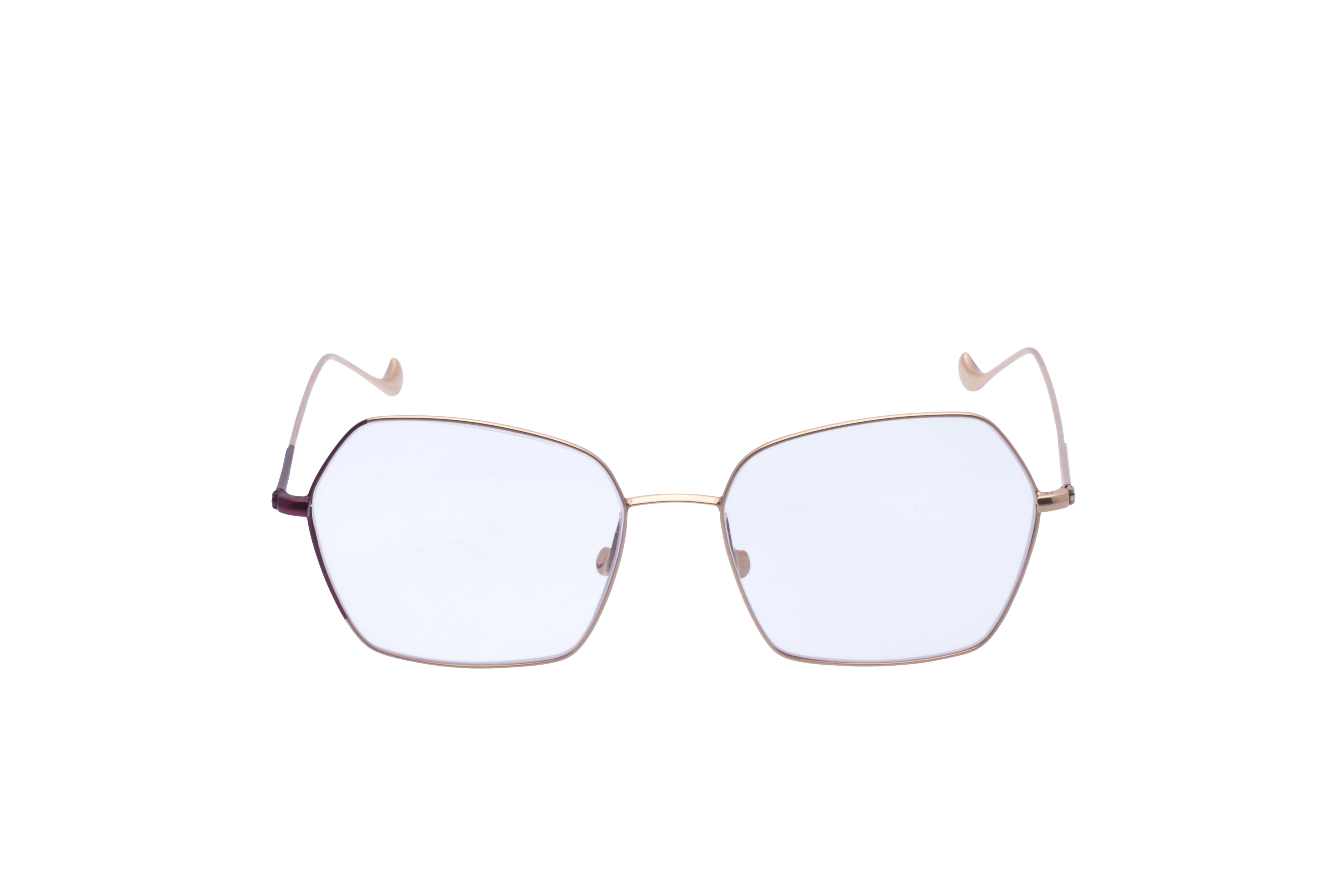 Caroline Abram Volcane Frontansicht, Brille auf Weiß