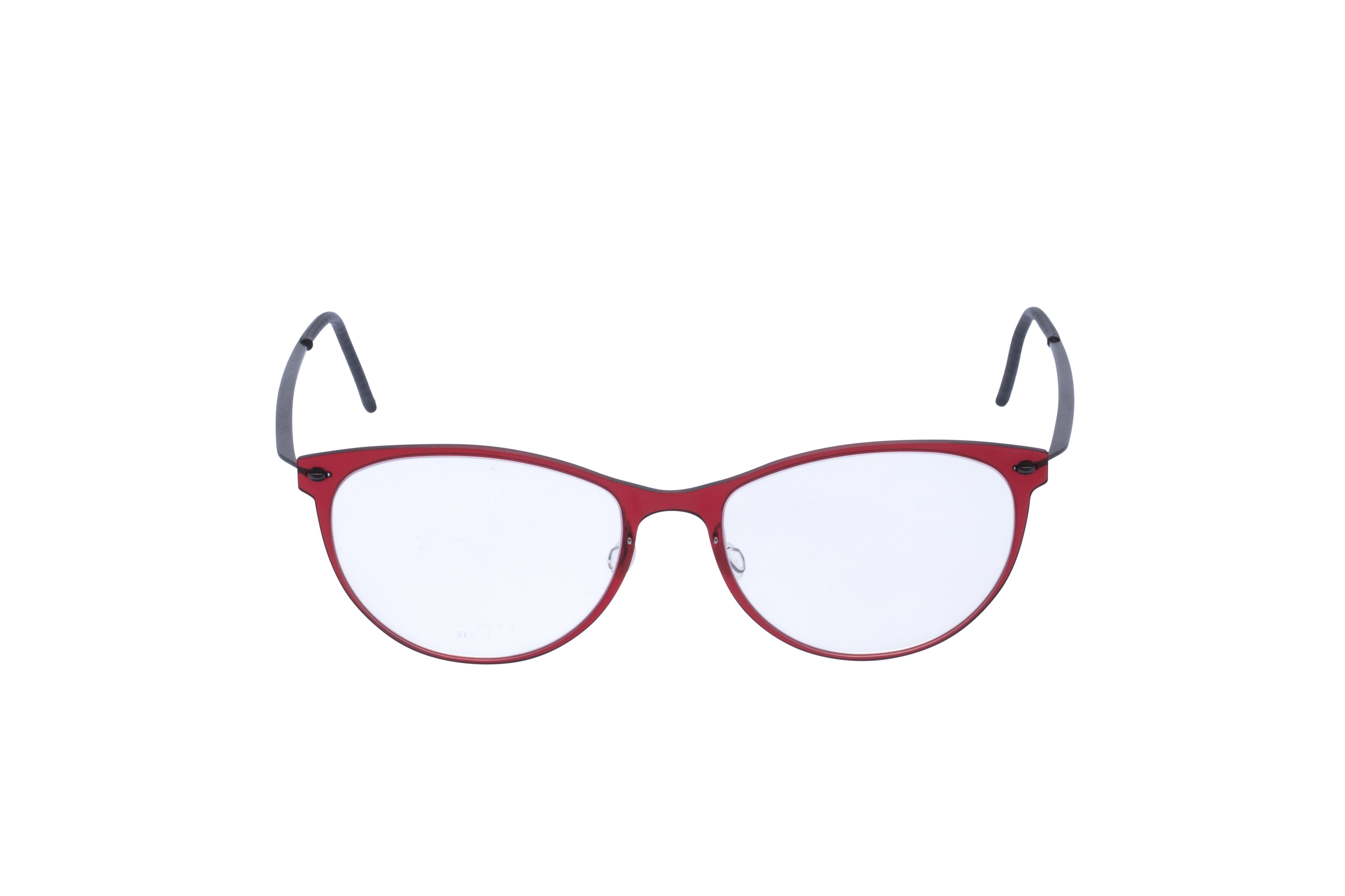 Lindberg 6520 Frontansicht, Brille auf Weiß
