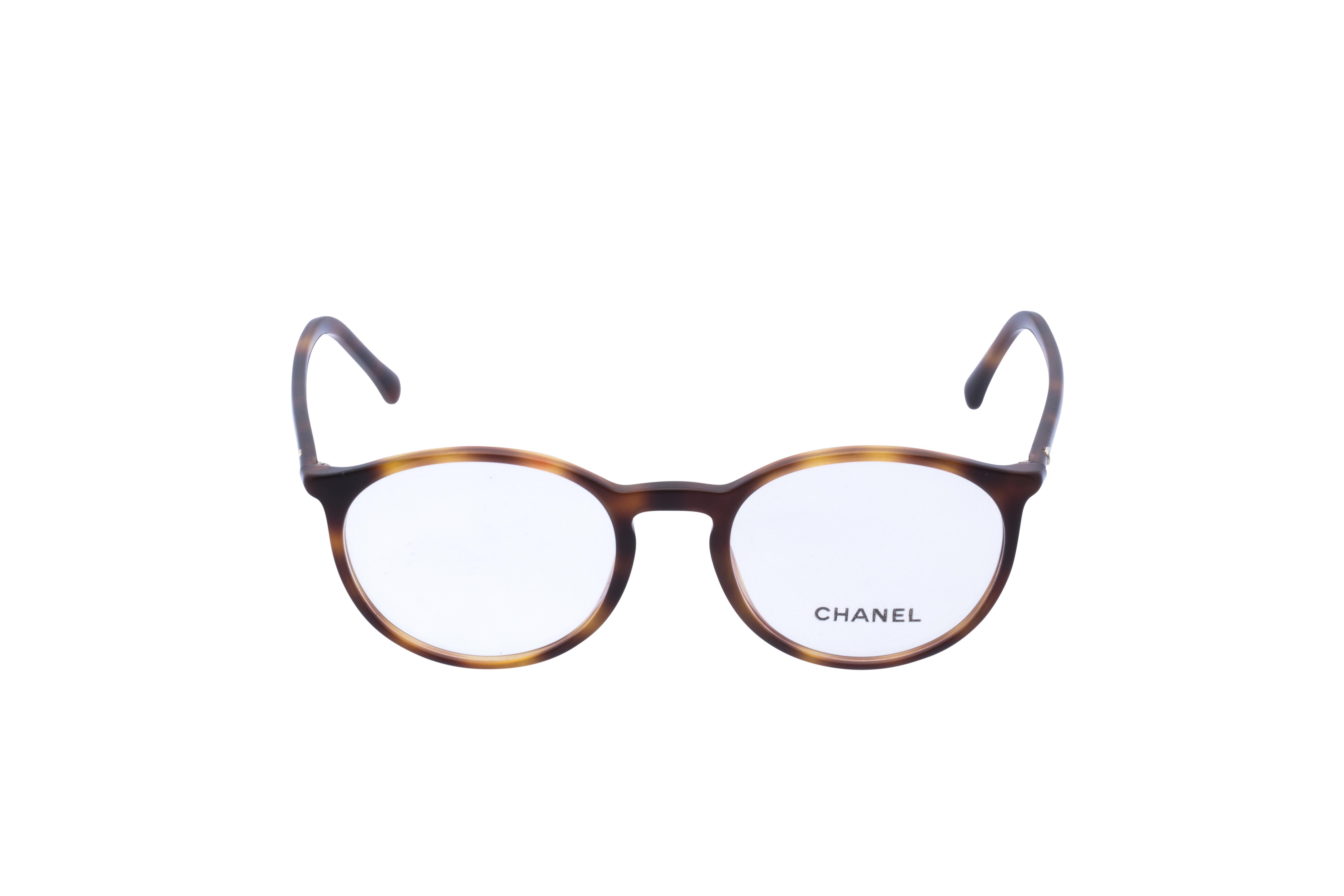 Chanel  3372 Frontansicht, Brille auf Weiß