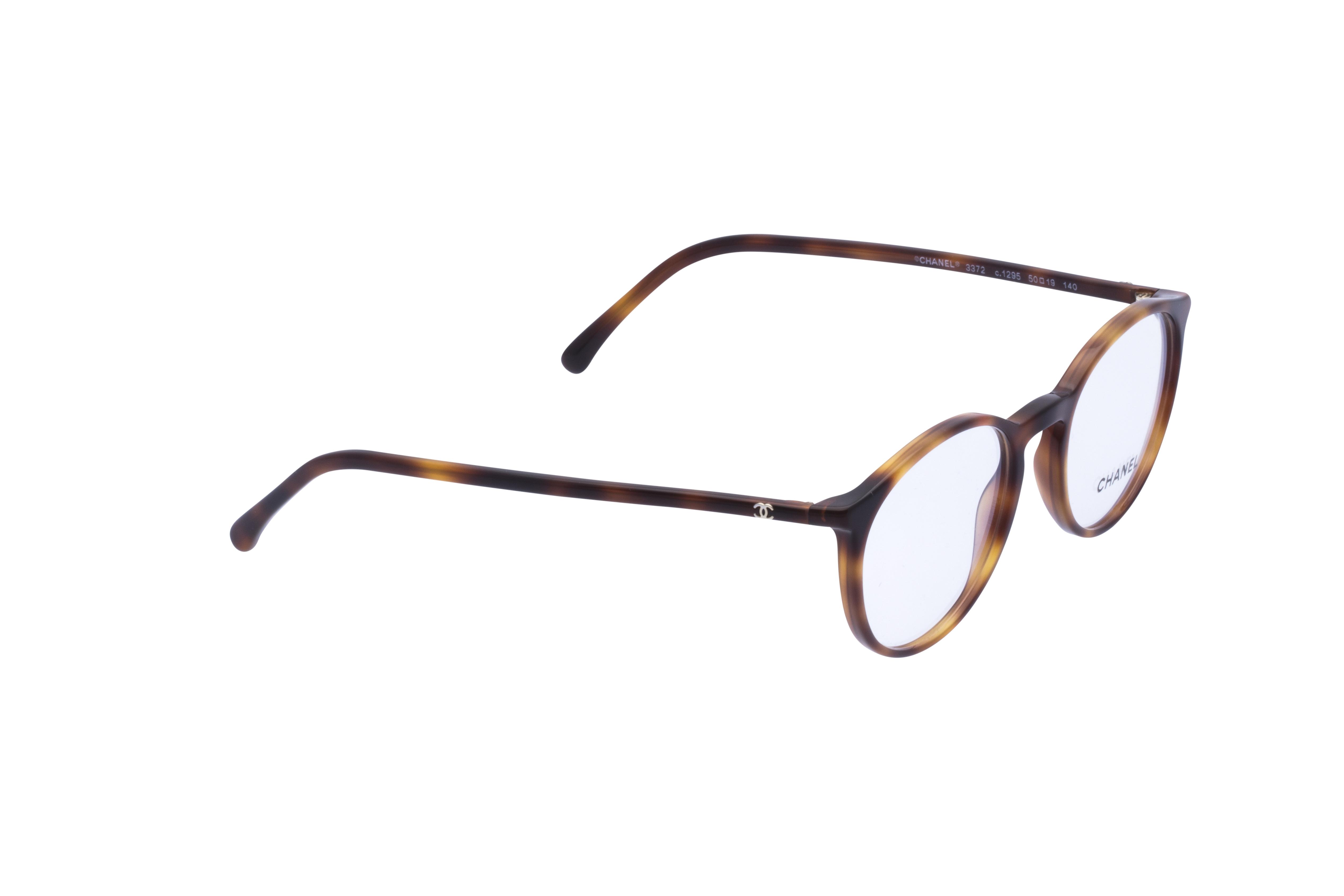 360 Grad Ansicht 4 Chanel 3372 Frontansicht, Brille auf Weiß - Fassung bei KUNK