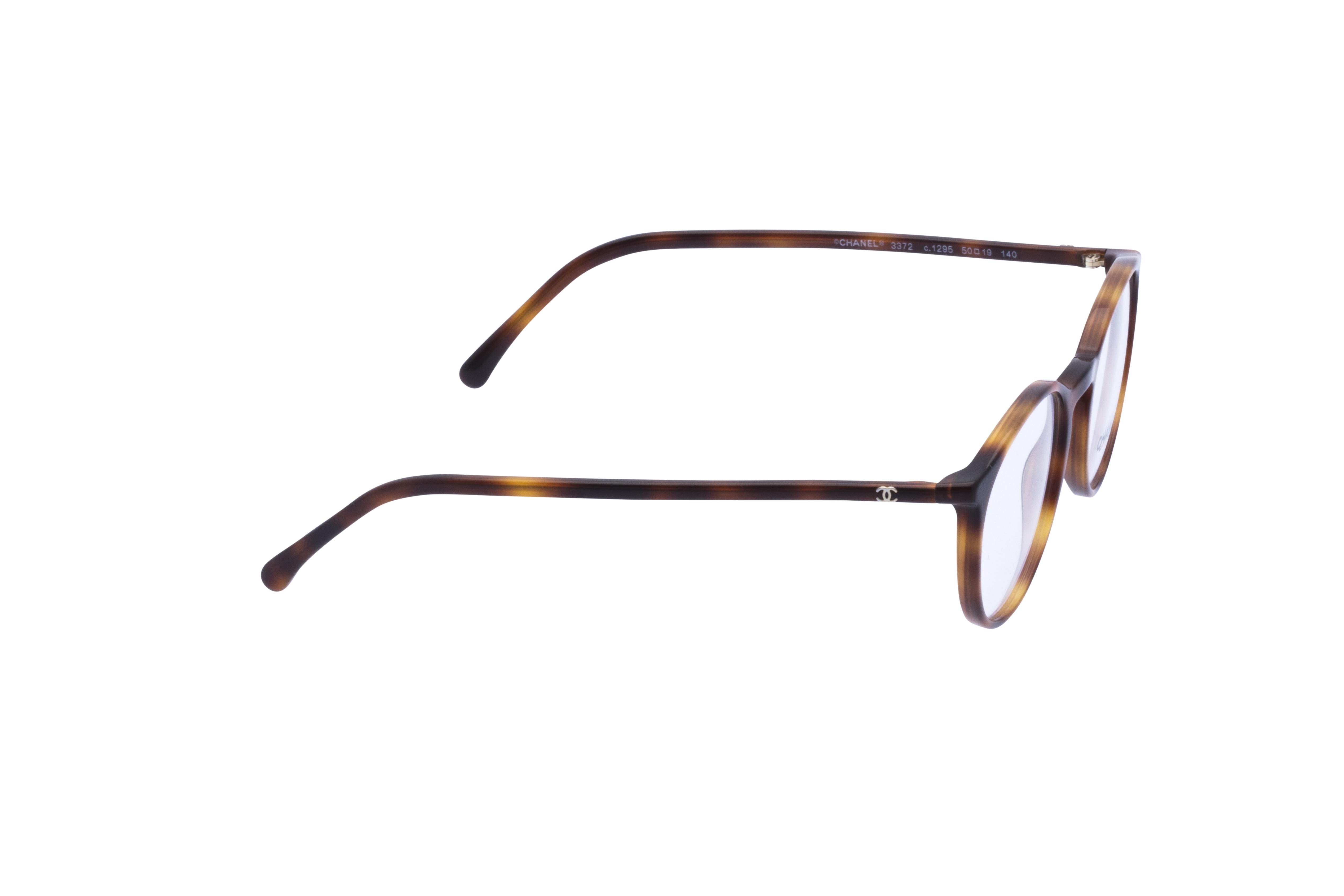 360 Grad Ansicht 5 Chanel 3372 Frontansicht, Brille auf Weiß - Fassung bei KUNK