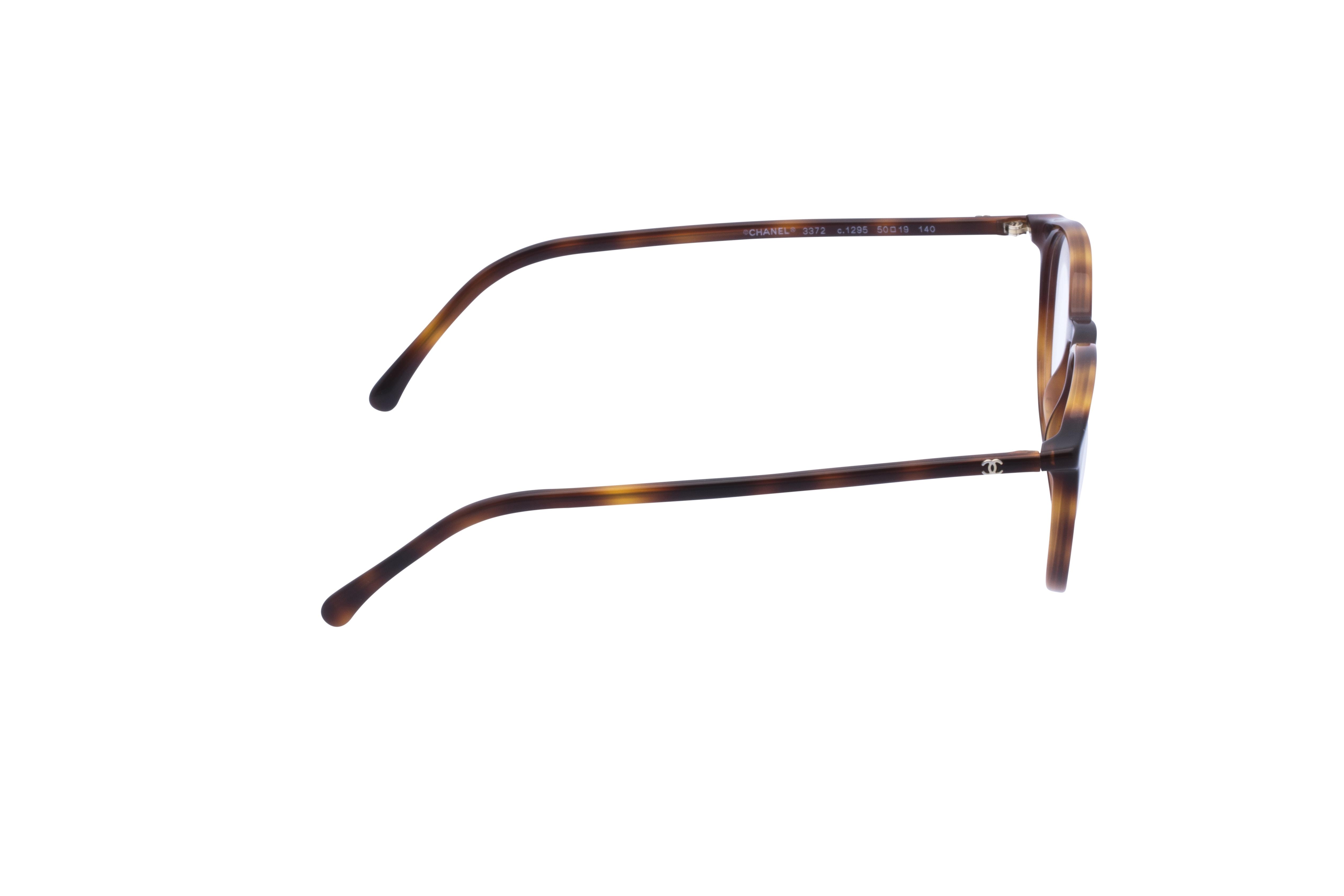 360 Grad Ansicht 6 Chanel 3372 Frontansicht, Brille auf Weiß - Fassung bei KUNK