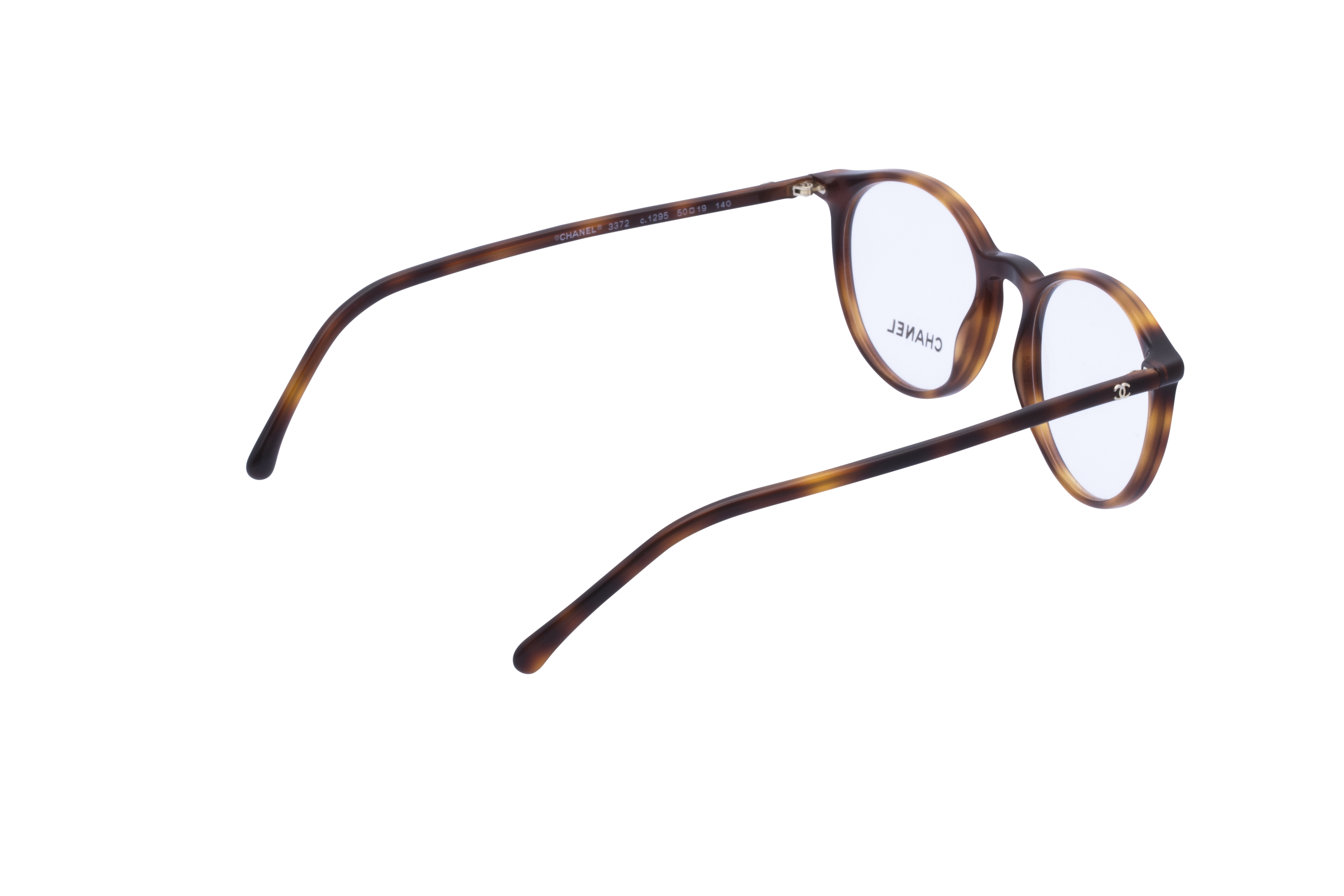 360 Grad Ansicht 8 Chanel 3372 Frontansicht, Brille auf Weiß - Fassung bei KUNK