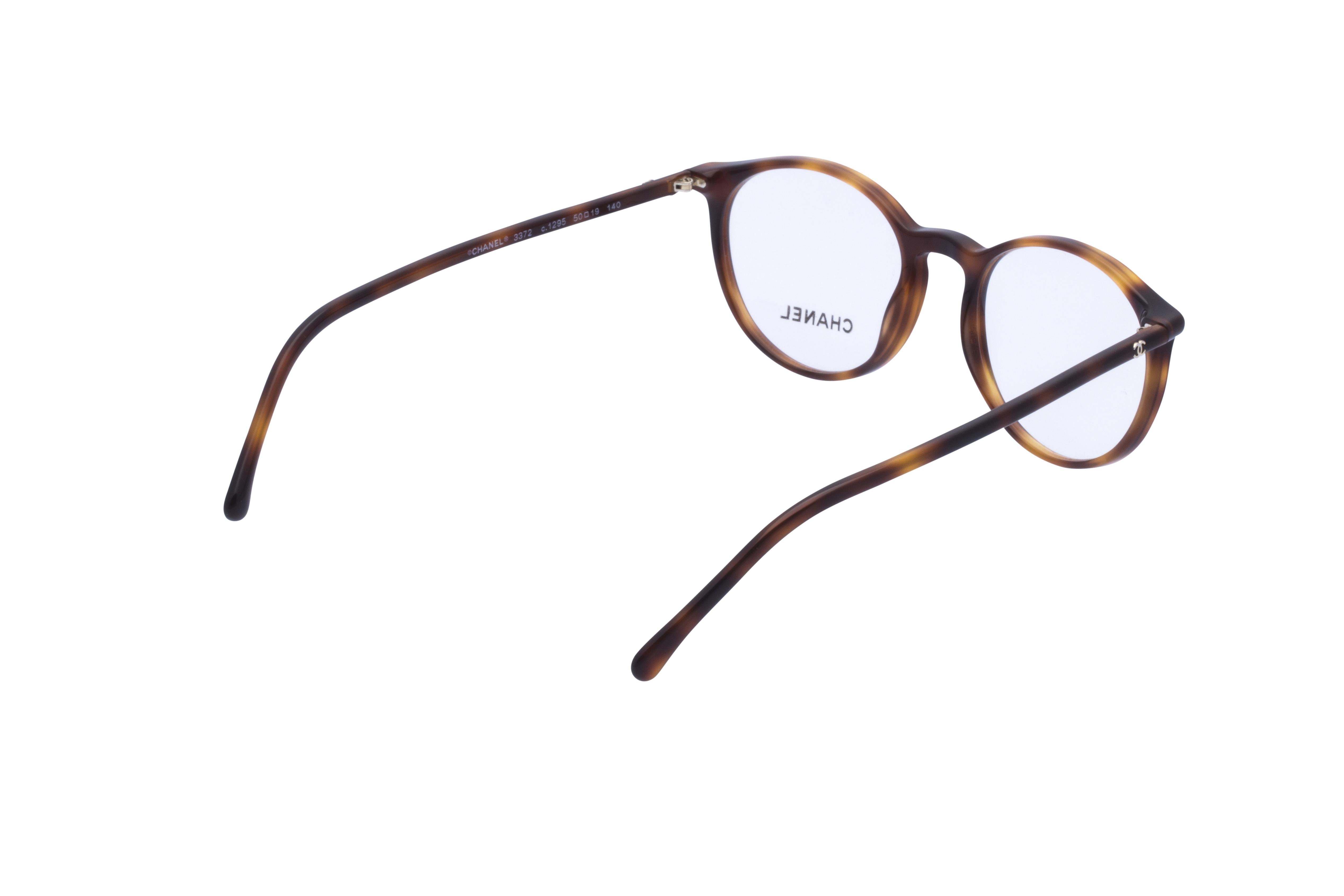 360 Grad Ansicht 9 Chanel 3372 Frontansicht, Brille auf Weiß - Fassung bei KUNK