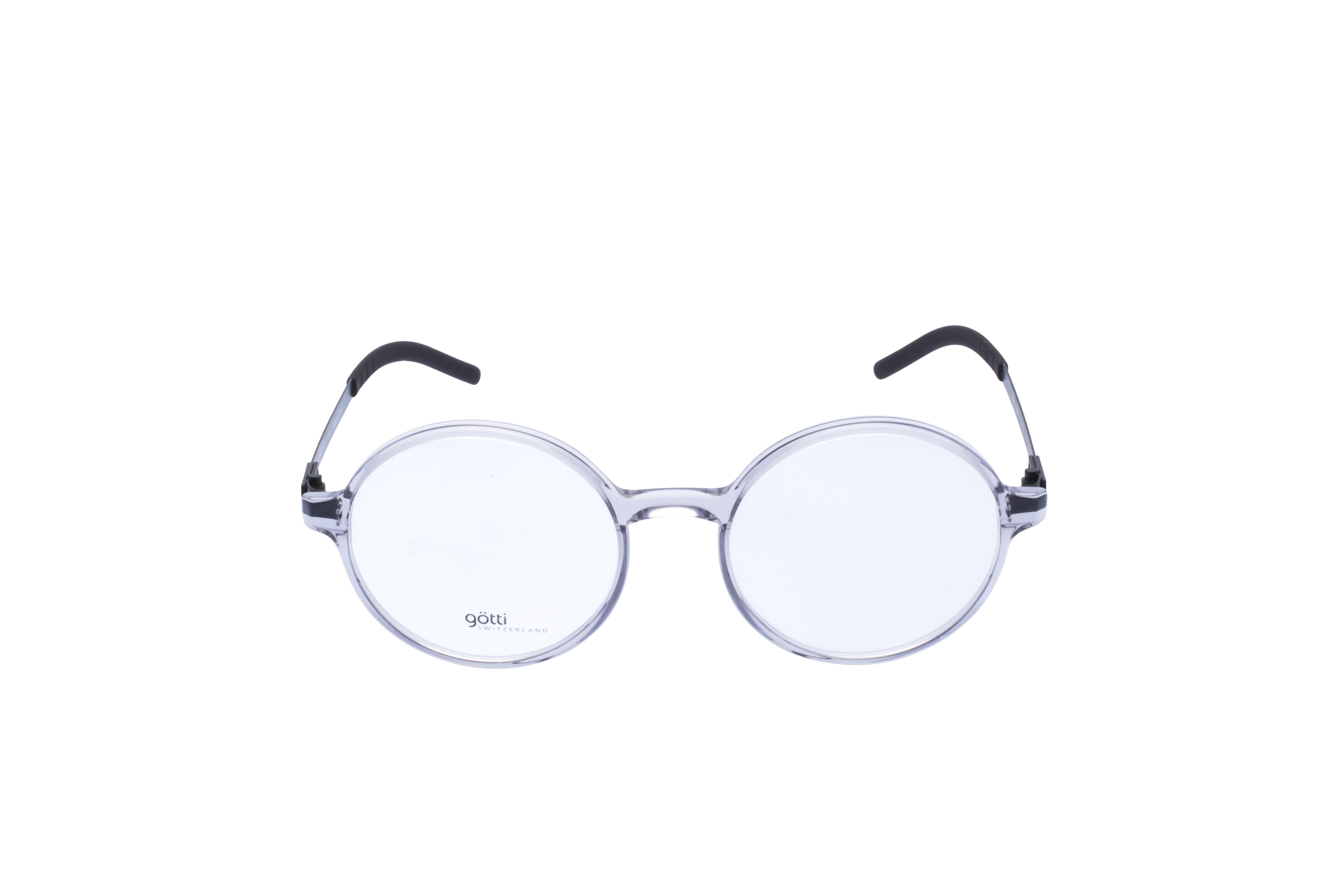 Götti Sedrin Frontansicht, Brille auf Weiß - Fassung bei KUNK