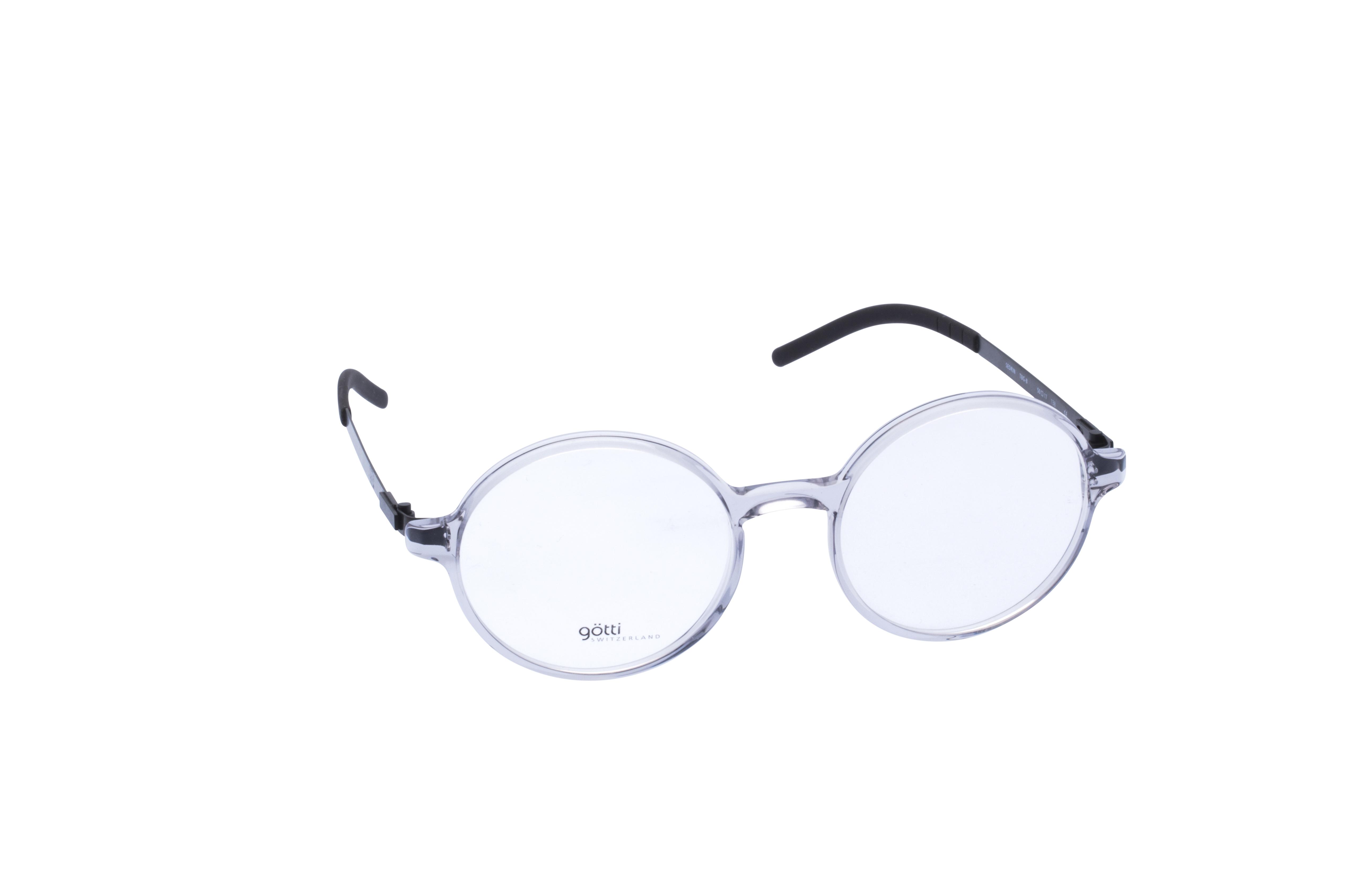 360 Grad Ansicht 1 Götti Sedrin, Brille auf Weiß - Fassung bei KUNK