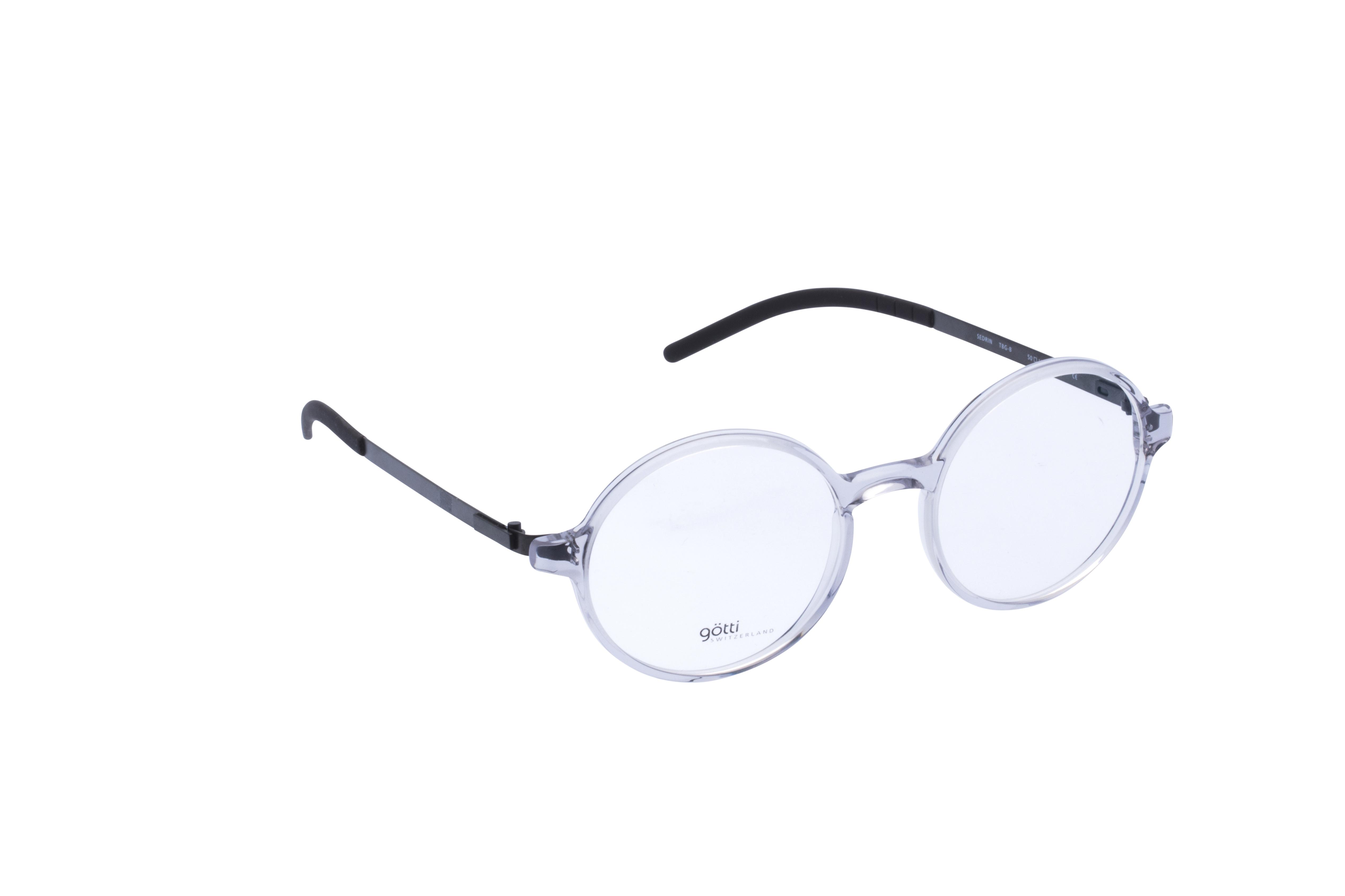 360 Grad Ansicht 2 Götti Sedrin, Brille auf Weiß - Fassung bei KUNK