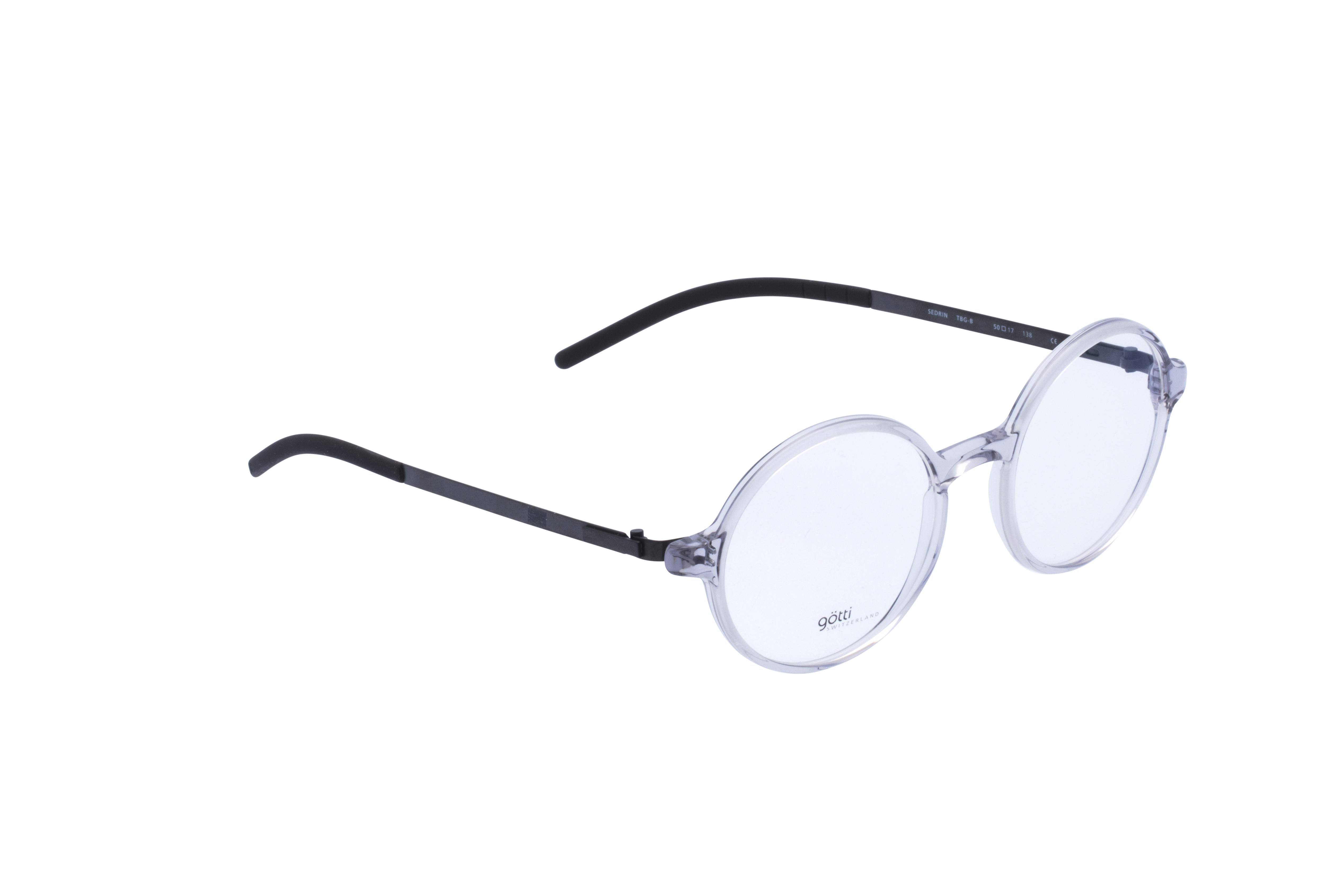 360 Grad Ansicht 3 Götti Sedrin, Brille auf Weiß - Fassung bei KUNK
