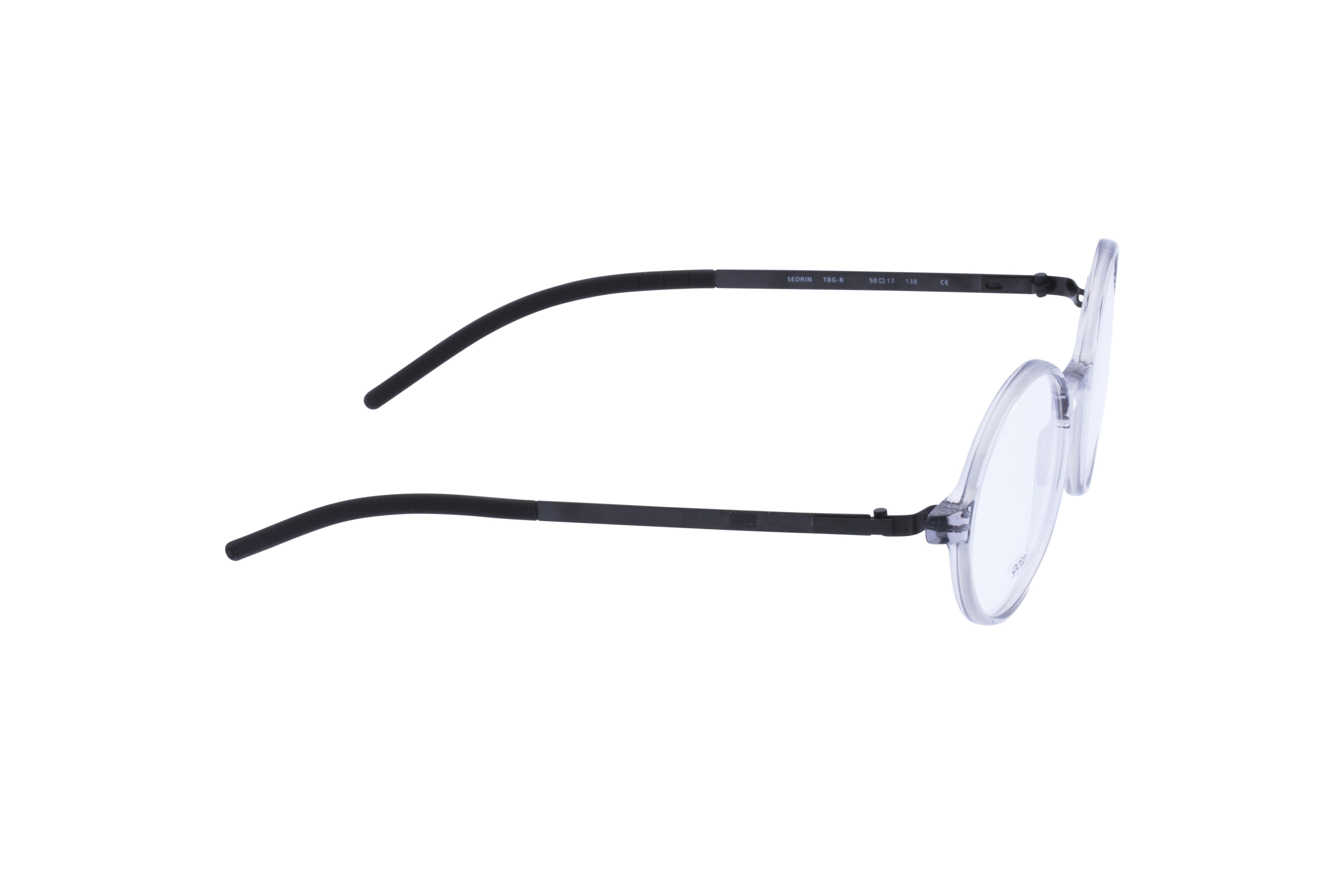 360 Grad Ansicht 5 Götti Sedrin, Brille auf Weiß - Fassung bei KUNK