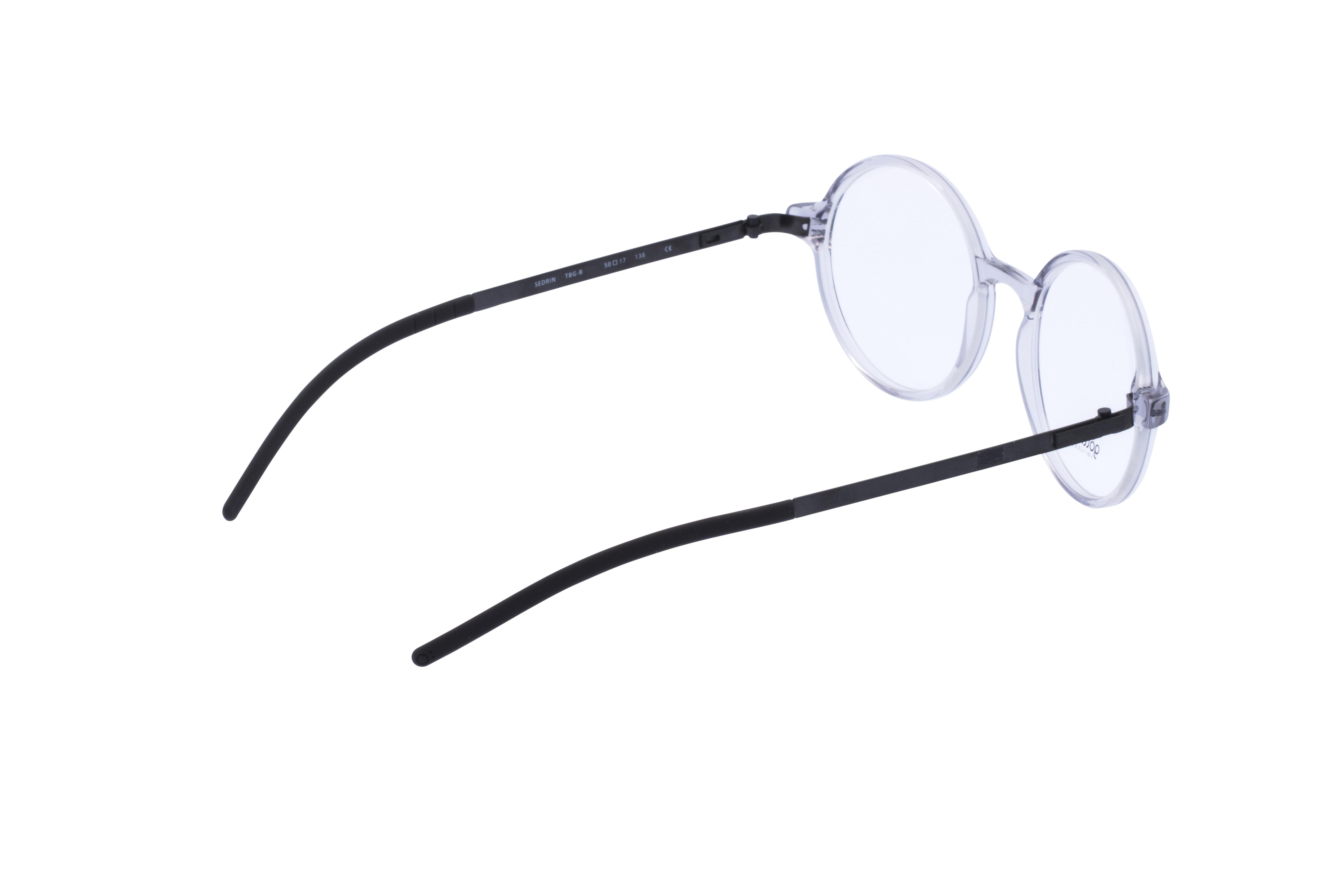 360 Grad Ansicht 8 Götti Sedrin, Brille auf Weiß - Fassung bei KUNK
