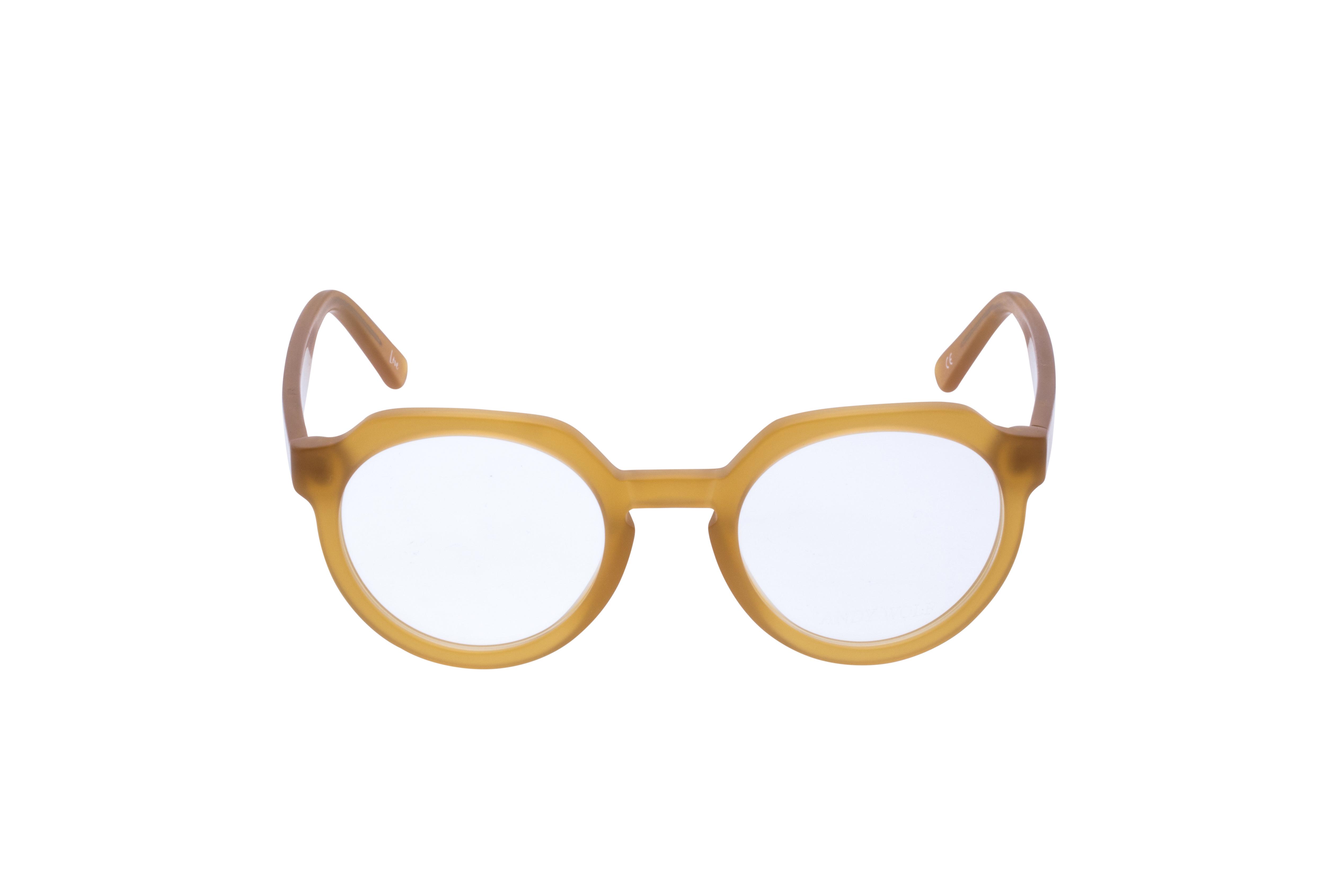 Andy Wolf 4570 Frontansicht, Brille auf Weiß
