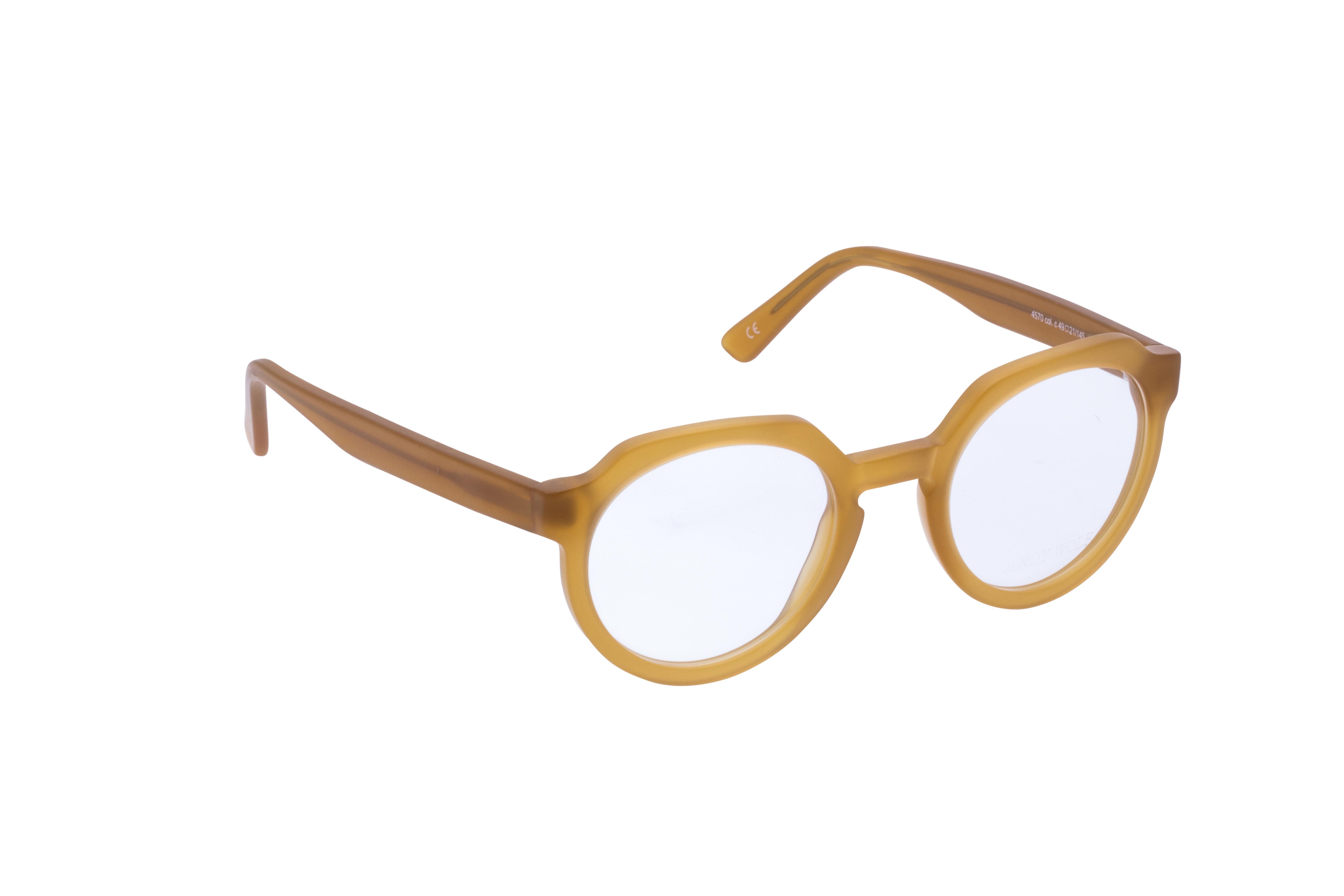 360 Grad Ansicht 2 Andy Wolf 4570, Brille auf Weiß - Fassung bei KUNK
