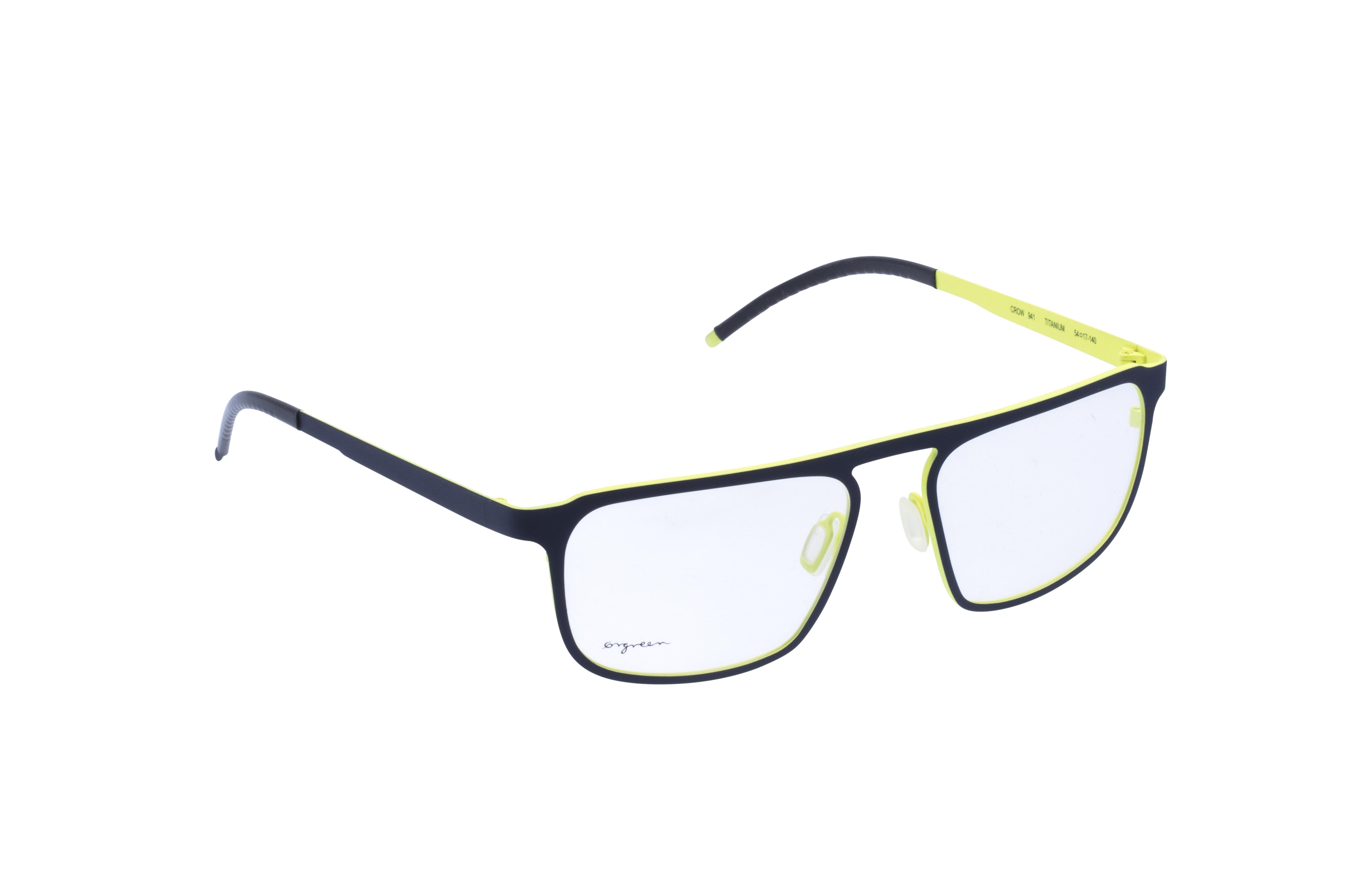 360 Grad Ansicht 2 Orgreen Crow, Brille auf Weiß - Fassung bei KUNK