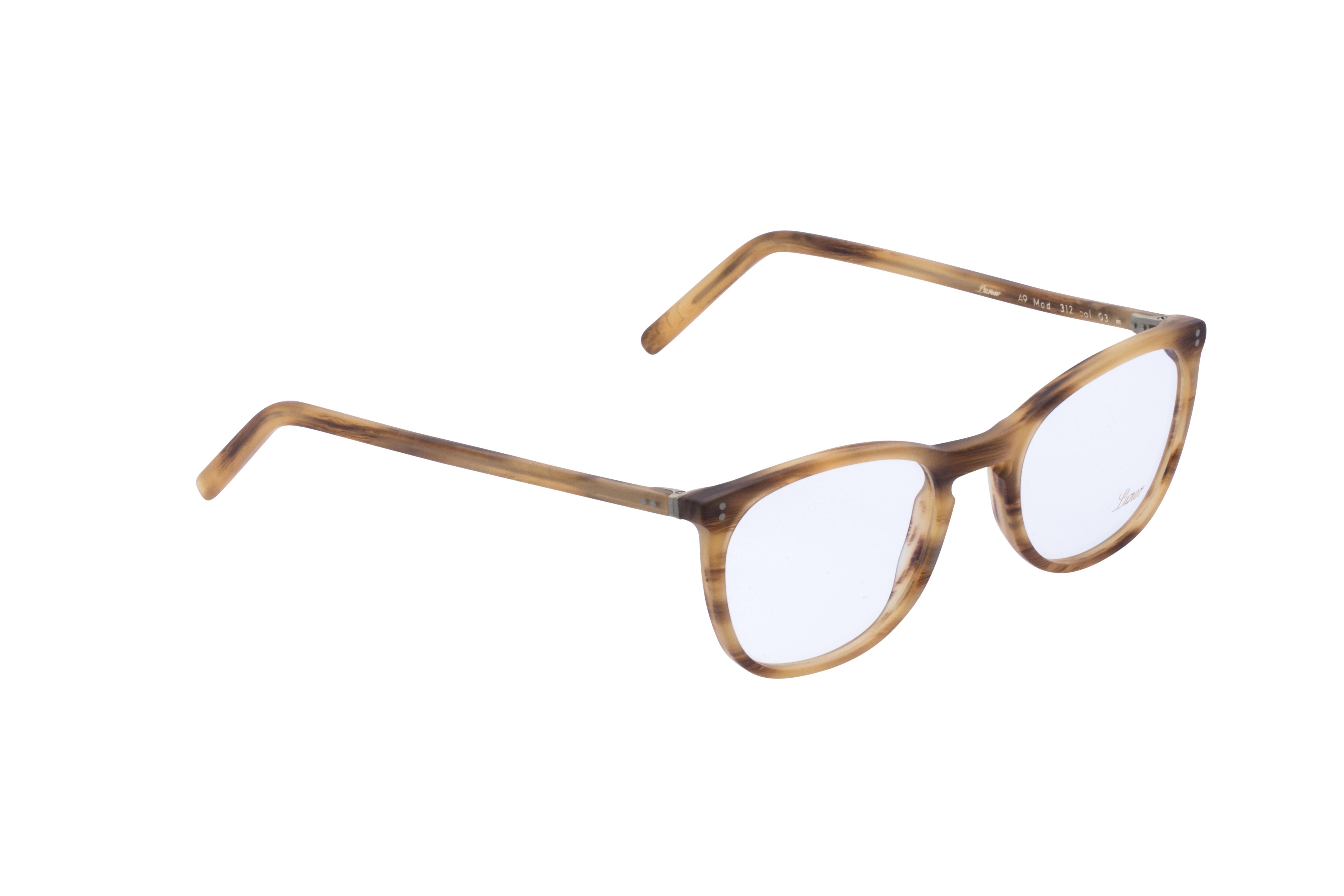 360 Grad Ansicht 3 Lunor 312, Brille auf Weiß - Fassung bei KUNK