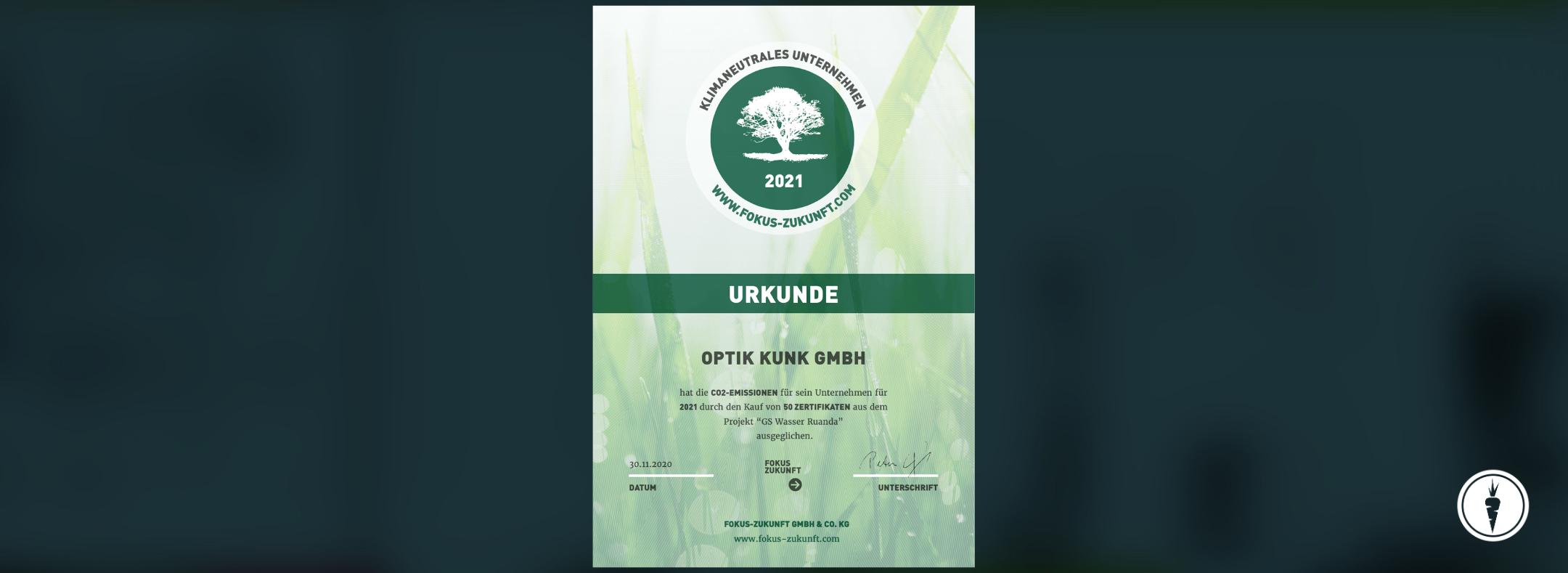 Klimaneutralität KUNK neue Optik 2021